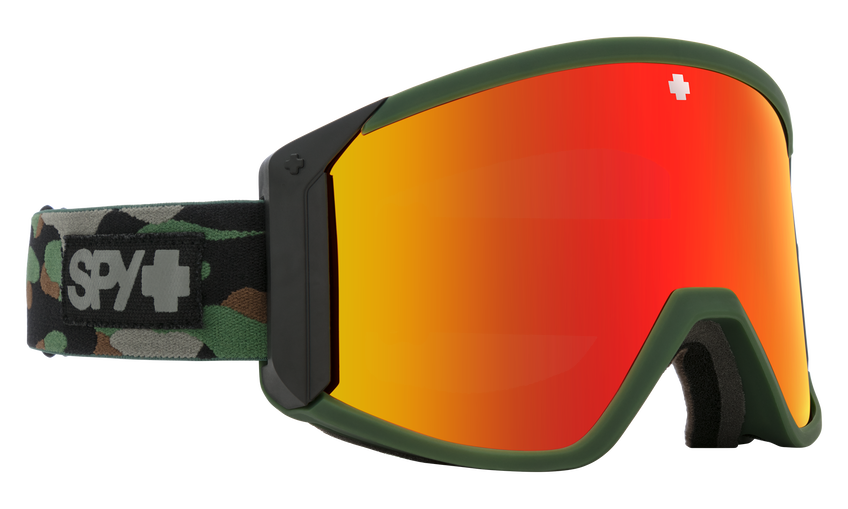 Raider Snow Goggle - Camo/HD Bronze w/ Red Spectra Mirror + HD LL Persimmon