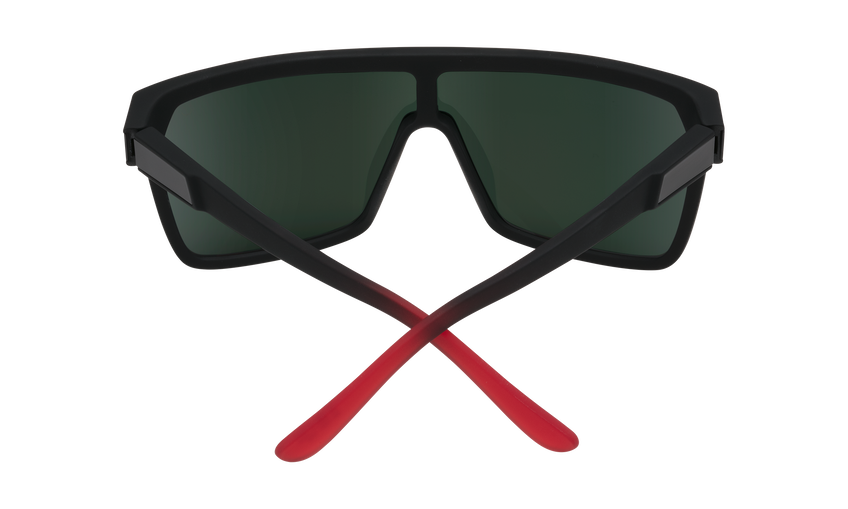 Flynn - Soft Matte Black Red Fade/HD Plus Gray Green with Red Light Spectra Mirror