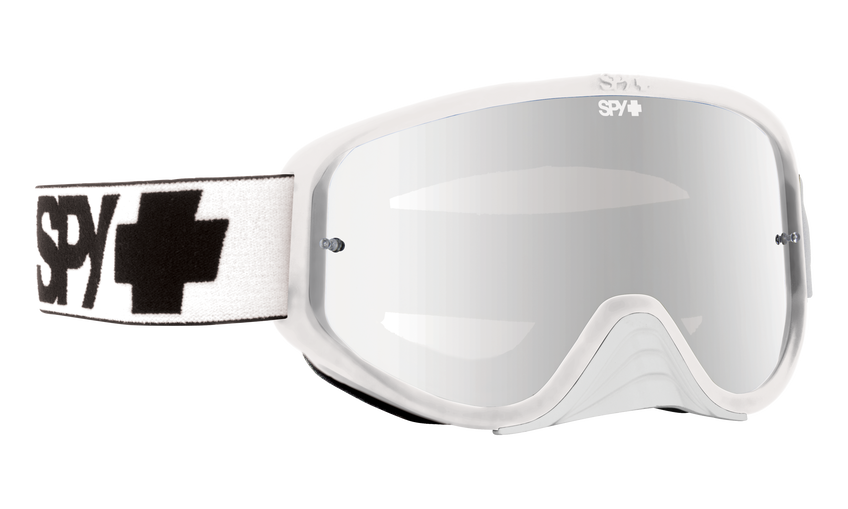 Woot Race Mx Goggle - White/Smoke with Silver Spectra + Clear AFP