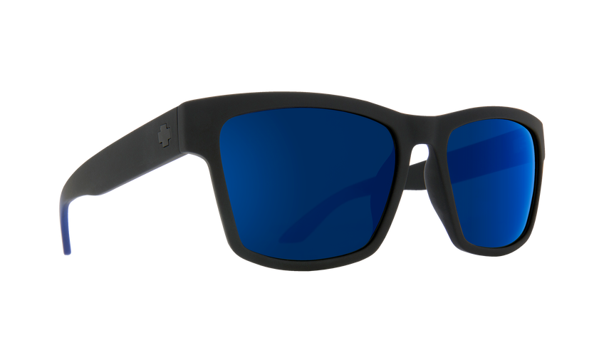 Haight 2 Soft Matte Black Blue Fade - HD Plus Gray Green with Dark Blue Light Spectra Mirror