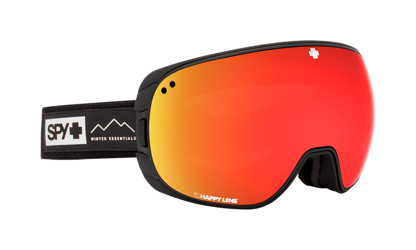 Bravo Asian Fit Snow Goggle - Essential Black/Happy Grey Green w/Red Spectra (VLT:17%) + Happy Yellow w/ Lucid Green (VLT:53%)