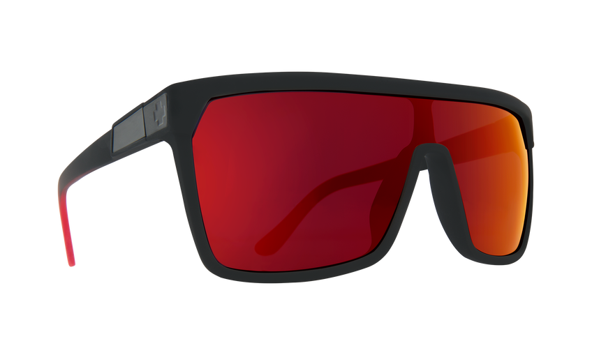 Flynn Soft Matte Black Red Fade - HD Plus Gray Green with Red Light Spectra Mirror