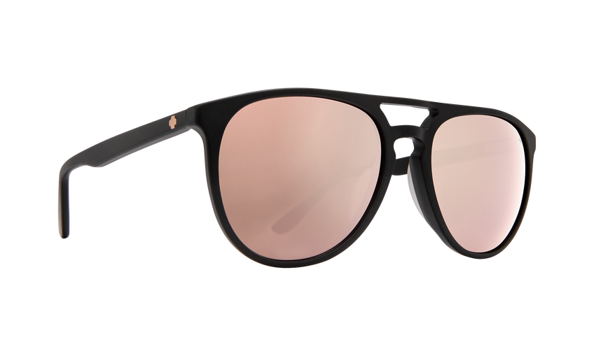 Syndicate Matte Black-Happy Bronze W/Rose Quartz Spectra Mirror