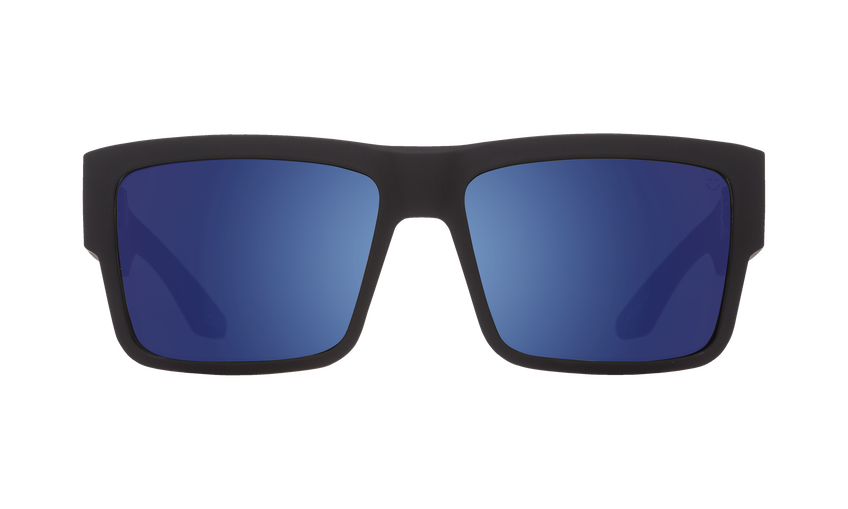Cyrus Asian Fit - Soft Matte Black/Happy Bronze with Blue Spectra