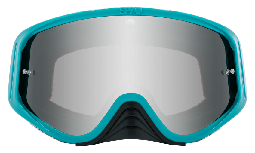 Woot Race Mx Goggle - Checkers Teal/HD Smoke with Silver Spectra Mirror - HD Clear