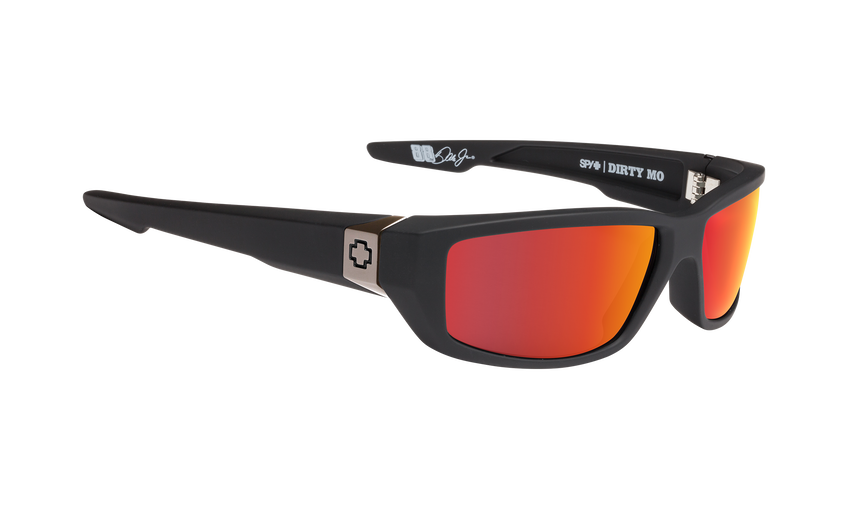 Dirty Mo - Soft Matte Black/HD Plus Rose with Red Spectra Mirror