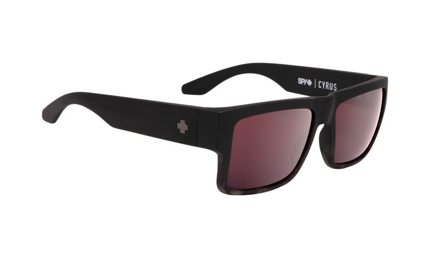 Cyrus - Matte Black/Smoke Tort Fade/Happy Rose with Silver Spectra Mirror