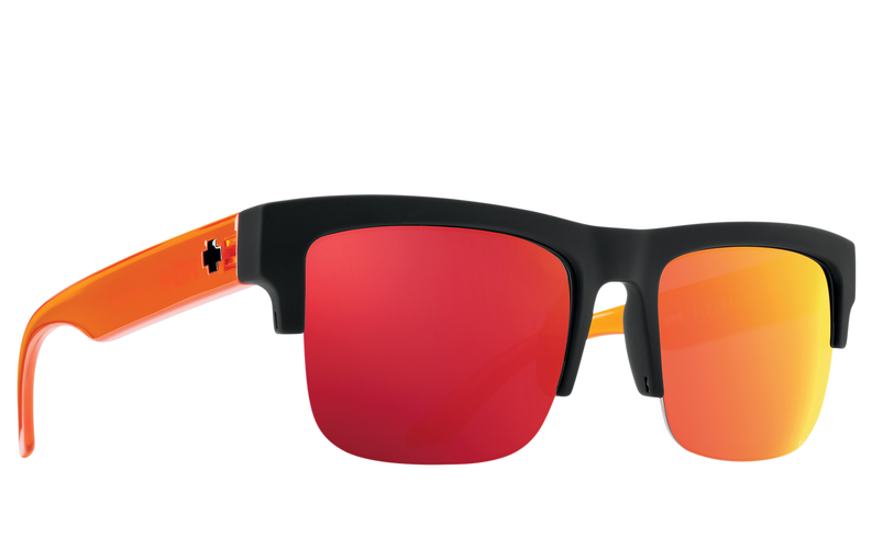 Discord 5050 - Soft Matte Black Translucent Orange/Happy Gray Green with Orange Spectra Mirror
