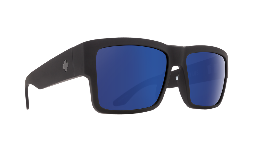 Cyrus Soft Matte Black - HD Plus Dark Gray Green Polar with Dark Blue Spectra Mirror